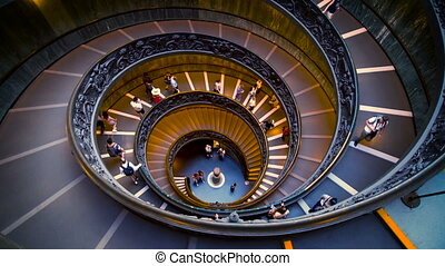 Staircase in Vatican Museums, Vatican, Rome, Italy