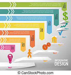 Staircase infographic template
