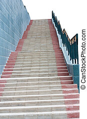 staircase leading up to the white background