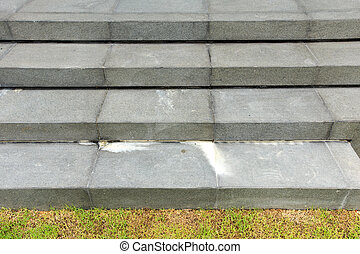 staircase made by natural stone and get problem from white calci