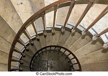 staircase of 19 century, in snail