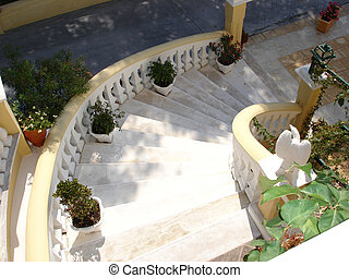 Staircase of a hotel - White hotel staircase