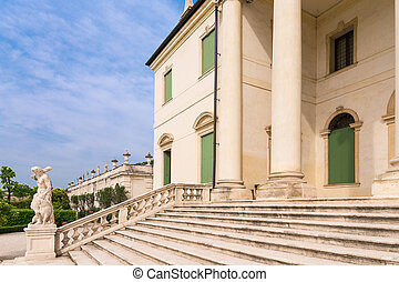 Staircase of a Palladian villa. - Detail of the staircase of...