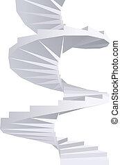 staircase., spirál