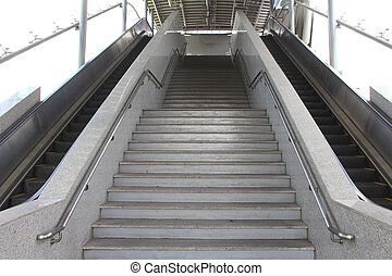 staircase stairs - down train station BTS