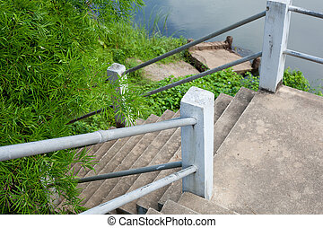 Staircase to the river