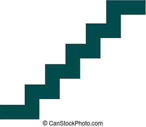 Staircase vector icon