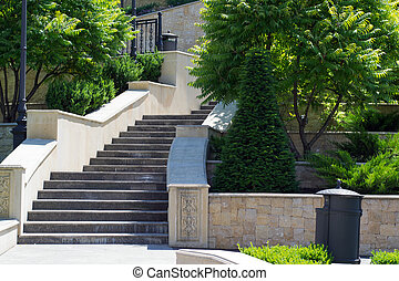 staircase with steps in the park
