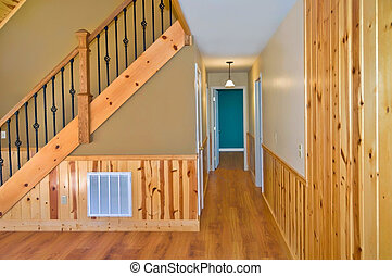 Stairs and Hallway Interior in a House