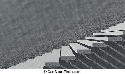 Stairs And Shade With Cement Wall