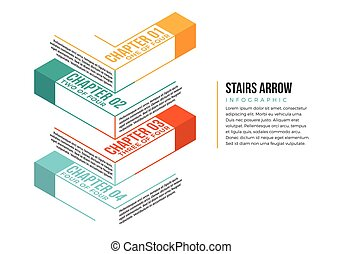 Stairs Arrow Infographic