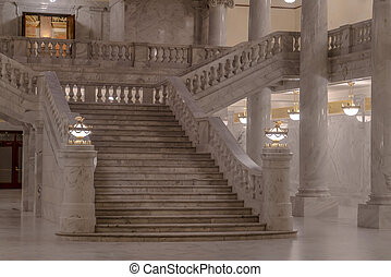 Stairs at the iconic Utah State Capital Building