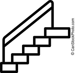 Stairs icon, outline style