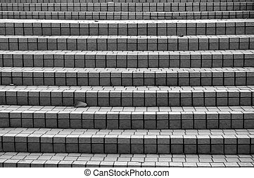 Stairs in black and white tone