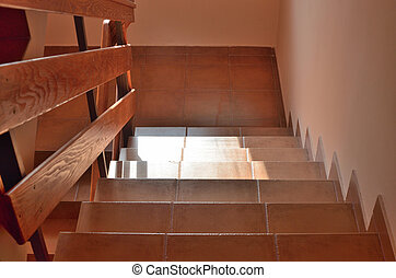 Stairs in Hallway of a House