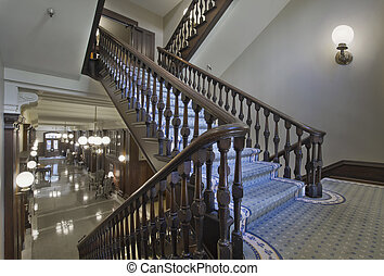 Stairs in Historic Courthouse Building