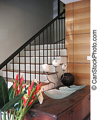 Stairs in house - Stairs in a house, modern asian design