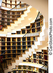 stairs in modern France wine shop