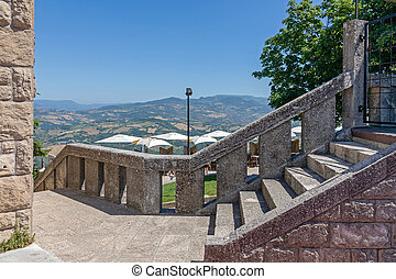 Stone Stairs Structure in San Marino Microstate