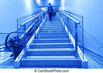 stairs in the airport lounge hall