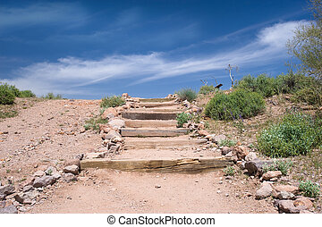 Stairs in the desert