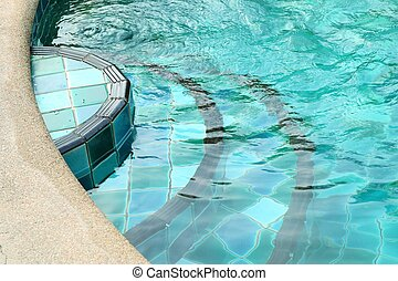Stairs in the pool