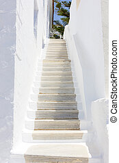 stairs in Tinos Island, Greece