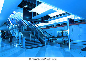 Stairs in train station