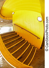Stairs in yellow - Yellow stairs outside London southbank...