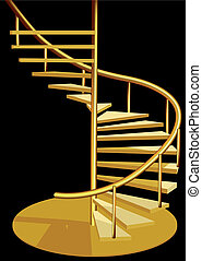 stairs interior isoolated on a black background