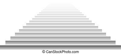Stairs isolated on white background. Steps. Vector illustration art