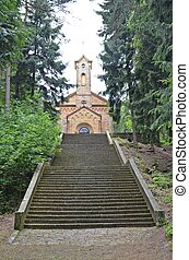 stairs leading to the church