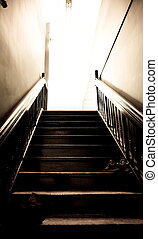 Stairs leading up to a st