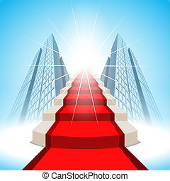 Stairs leading up to success. Vector