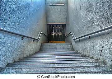 Stairs of a train station
