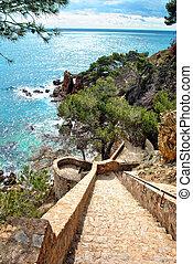 Stairs of the costa brava