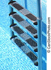 Stairs of the swimming pool