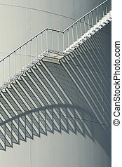 stairs on a oil storage