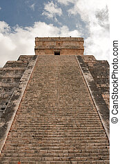 Stairs on Mayan pyramid in Chichen-Itza, Mexico
