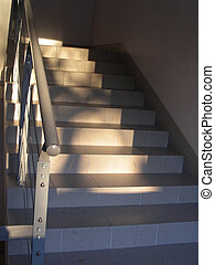 stairs on sunny evening