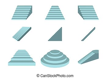 Stairs on white background , vector