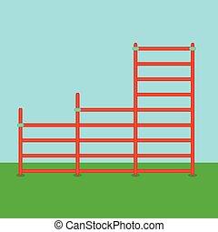 Stairs playground flat
