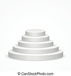 Stairs Podium. Vector