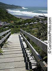 Stairs, Raglan, New Zealand.