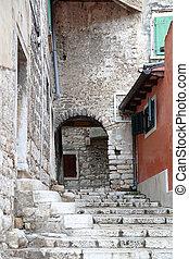 Stairs Rovinj - Stairs Street in Old Town Rovinj Croatia