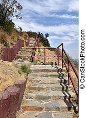 Stairs to scenic overlook