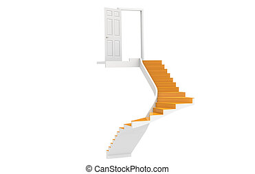 Stairs up to Copy-Space