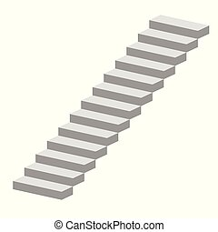 Stairs vector illustration isolated on white background