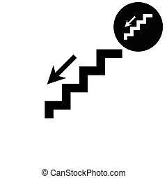 stairs -  white vector icon