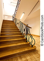 Stairs - Wooden stairs in an classic elegant interior